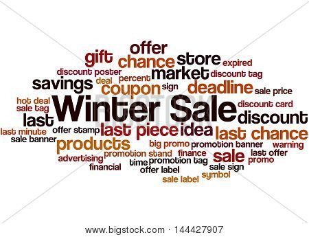Winter Sale, Word Cloud Concept 9
