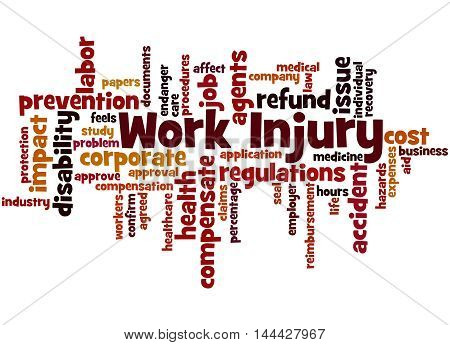 Work Injury, Word Cloud Concept 5