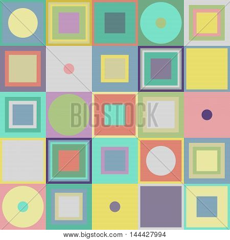 the texture seamless multi-colored geometric shapes squares and circles