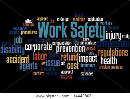 Work Safety, Word Cloud Concept