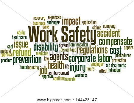 Work Safety, Word Cloud Concept 5