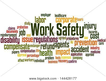Work Safety, Word Cloud Concept 7