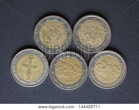 Euro (eur) Coins, Currency Of European Union (eu)