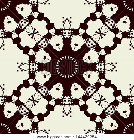 Seamless Print Based on Rorschach inkblot test. Abstract seamless pattern. For fabric, wallpaper, print, warping paper and so on.