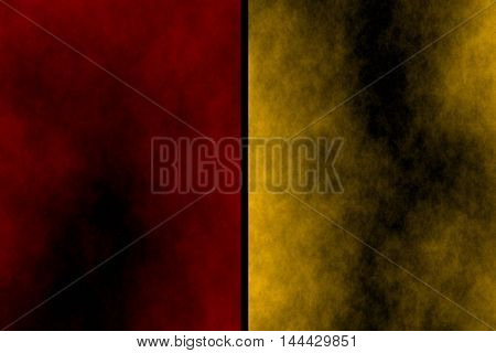 Illustration of red and orange divided smoky background