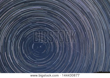 Star trails on a cloudless, moonless night
