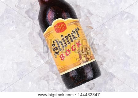 Shiner Bock Beer On Ice