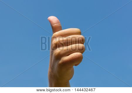 thumbs up - hand showing thumb up