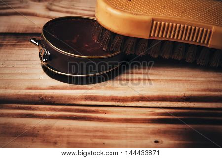Wax And Brush.vintage.paste Lbrown.accesories For Shoe Care