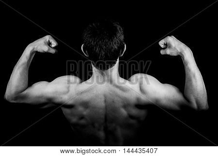 human body. a man who makes muscles move. sports
