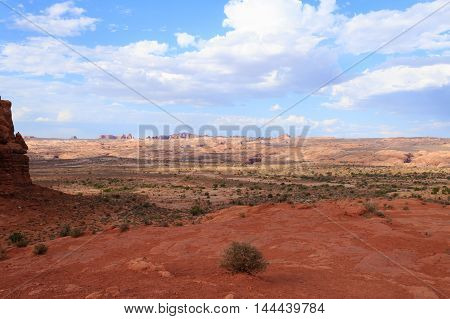 Panorama From Arches National Park, Utah. Usa