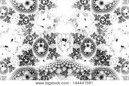 black and white fractal pattern background image