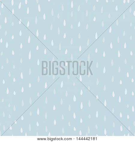 Raindrop background. Rainstorm Seamless Pattern. Rainy weather ornament. Water drops tiled wallpaper