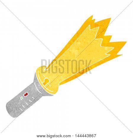 freehand retro cartoon torch
