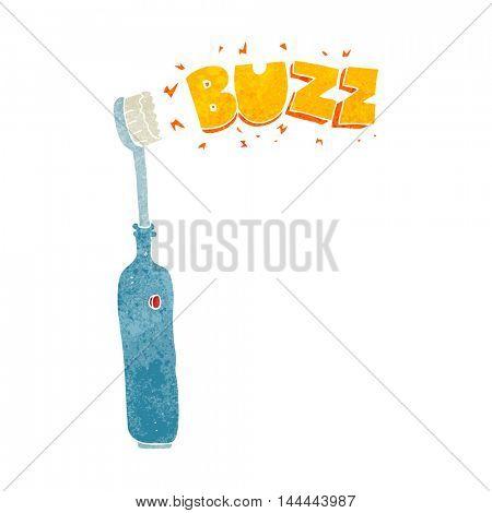freehand retro cartoon electric tooth brush