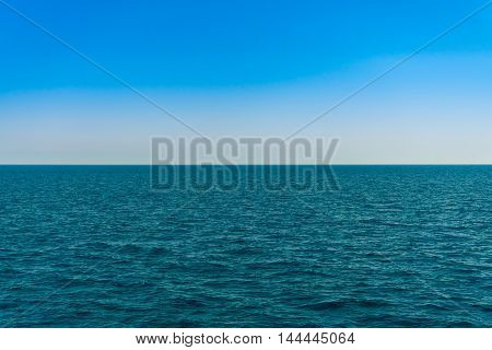 Horizon line - between sky and water. Sea of Turkey