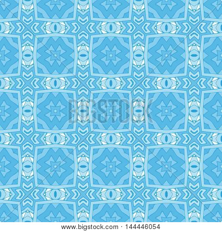 seamless patchwork pattern blue  tiled, ornament. Can be used for wallpaper, pattern fills, web page background, surface tiles and  textures.