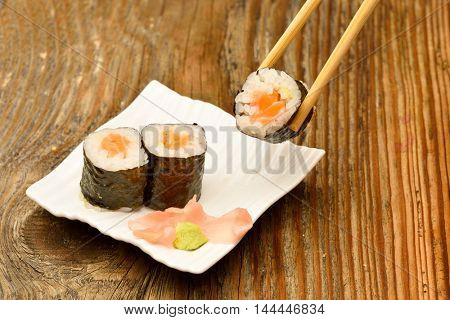 sushi on white plate