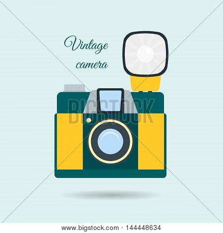 Retro Colorful Camera Icon