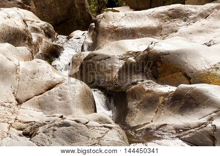 Water Between The Rocks - Meiringspoort Waterfall In De Rust