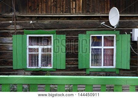 Siberian wooden architecture, Olkhon Island, Baikal Lake