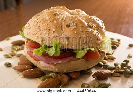 Sandwich With Fresh Smoked Meat