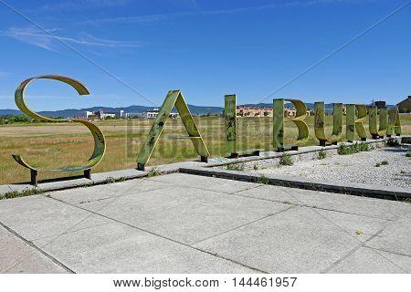 Vitoria-Gasteiz, Spain - JULY 26, 2016: Beautiful view of Salburua Park, Vitoria-Gasteiz.