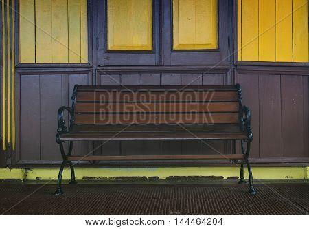 scene of chair on dark filter background