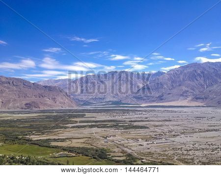 Nubra Valley from Diskit Gompa Leh Ladakh India