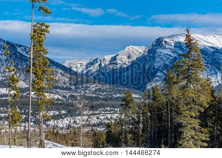Picture of Rocky Mountains near Canmore Alberta Canada