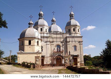 Beautiful greek-catholic church in Strusiv West Ukraine.