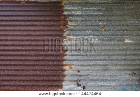 Rusted galvanized iron plate , texture and background