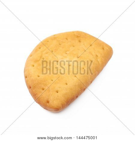 Meat pie isolated over the white background