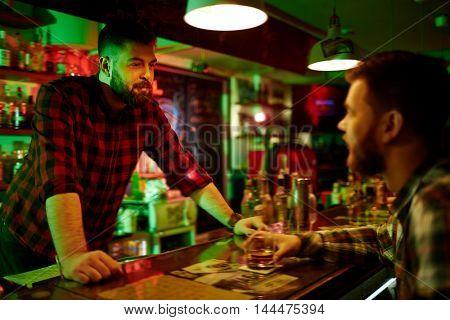 Enjoying time in the bar
