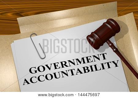 Government Accountability - Legal Concept