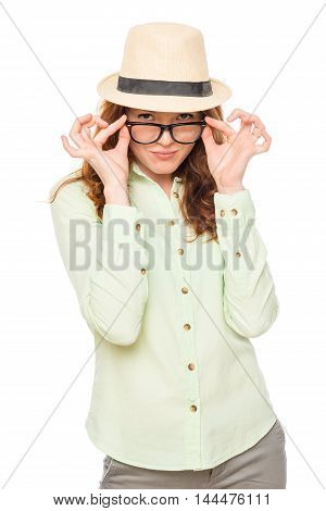 Women Are Strictly Looking At You On A White Background