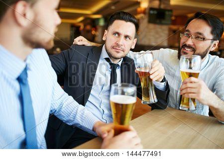 Businessmen at bar