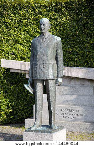 Statue of Frederick IX King of Denmark in Copenhagen Denmark