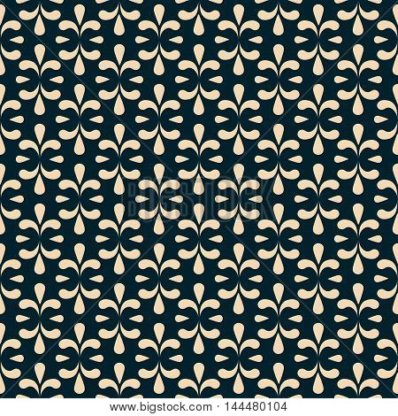 seamless damask pattern in dark colors. Vector.