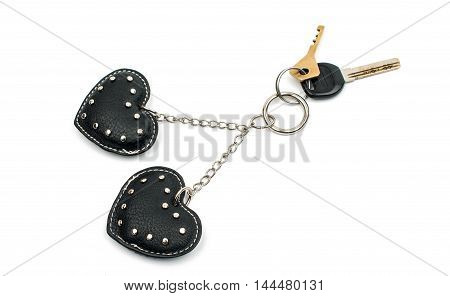 elegance keychain heart on a white background