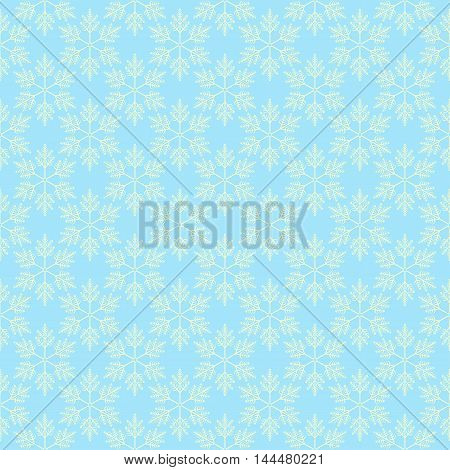 seamless damask pattern in blue colors. Vector.