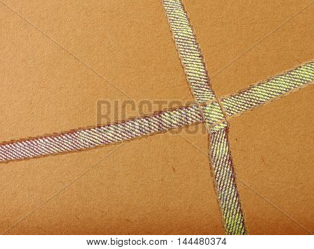 brown paper with jean seam background ,