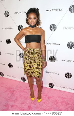 LOS ANGELES - JUN 9:  Karrueche Tran at the 4th Annual Beautycon Festival at the Los Angeles Convention Center on June 9, 2016 in Los Angeles, CA