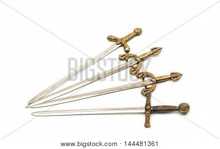 Swords  sabre, blade on a white background