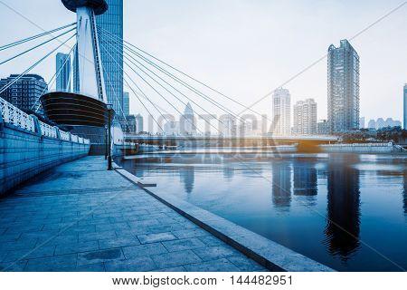 beautiful cityscape,tianjin,china.