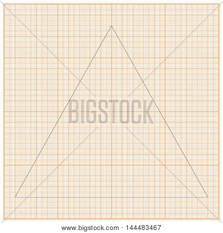 Graph paper for geometric calculations. For the background design works. Vector illustration