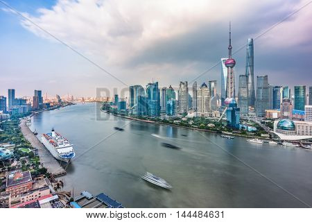 Spectacular views of the Bund,shanghai,china.