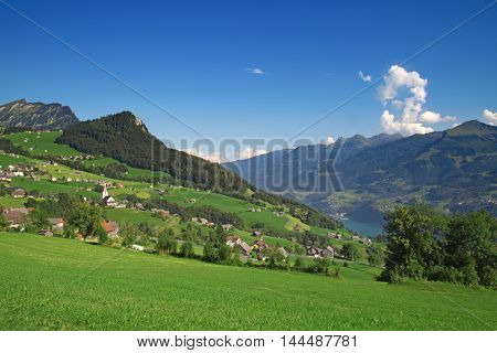Small village in swiss alps