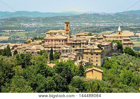 Bettona (Umbria Italy) panoramic view and landscape