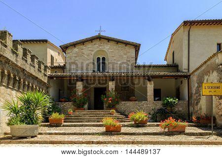 Spello (Umbria) Chiesa di San Severino view